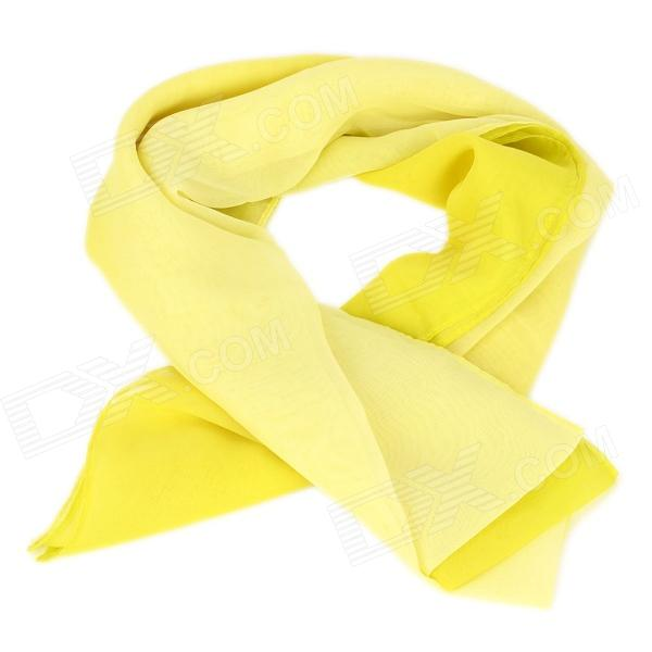 Fashion Gradient Long Scarf Shawls for Women - Yellow