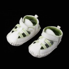 Fashion PU Leather Sandals for 3~6 Months Male Babies - White (Pair)