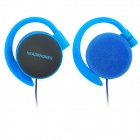ATH-EQ500-02 Fashion Wired 3.5mm Plug Ear Hook Headphones - Deep Blue + Black (114cm)