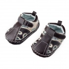 Fashion PU Leather Sandals for 6~9 Months Male Babies - Brown (Pair)