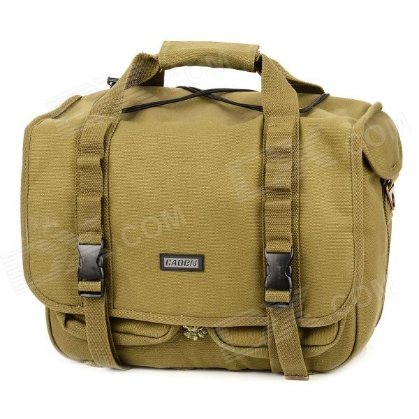 Фото - Caden L3 Universal Canvas One Shoulder Bag / Backpack for DSLR Camera - Military Green 2017 luxury brand women handbag oil wax leather vintage casual tote large capacity shoulder bag big ladies messenger bag bolsa