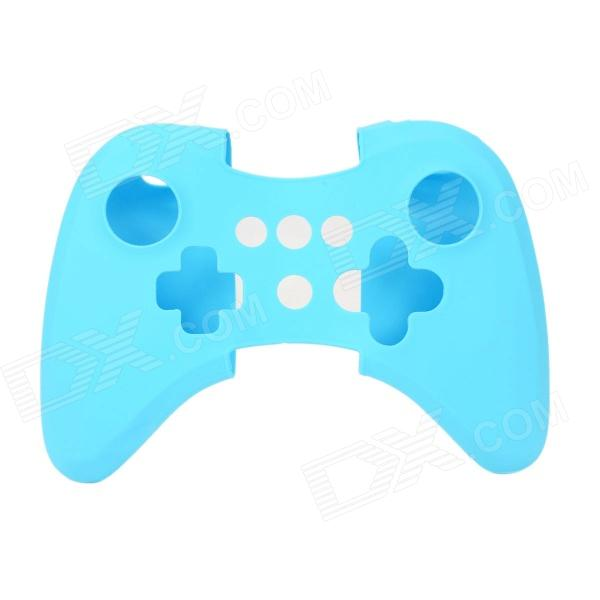 Protective Soft Silicone Case Cover for Wii U Controller - Blue protective silicone cover case for xbox 360 controller yellow blue