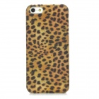 Ultrathin Leopard Style Protective PC Back Case for Iphone 5 - Yellow + Black