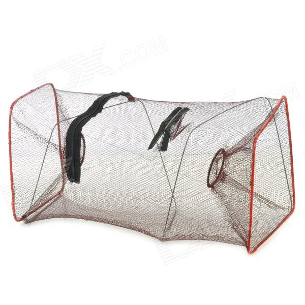 E4KM Nylon + Plastic Net for Fish / Shrimp / Small Crab - Brown + Red