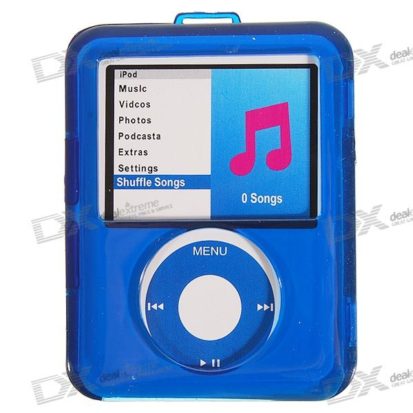 Protective Crystal Case for iPod Nano 3 (Translucent Blue)