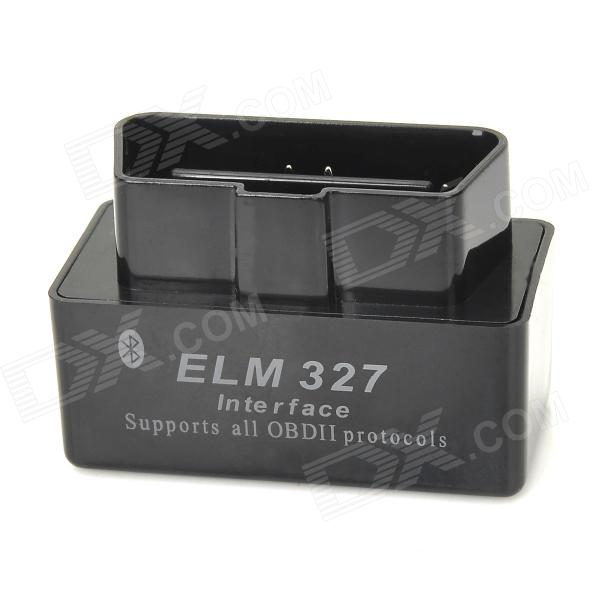 Super Mini ELM327 Bluetooth V1.5 OBD2 Car Diagnostic Interface Tool - Black super mini elm327 obd2 bluetooth interface v2 1 obd2 obdii auto car diagnostic tool elm 327 work on android torque pc russian en