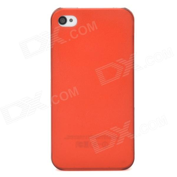 Protective Matte PC Case for Iphone 4 / 4S - Translucent Red