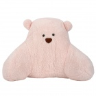 645-3 Cartoon Bear Style Plush + PP Cotton Waist Cushion / Pillow - Light Pink + Brown + Black