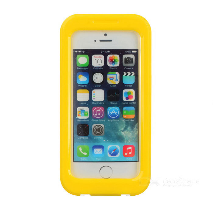 AW-101 Universal Waterproof Protective Case for Iphone 4 / 4S / 5 - Yellow