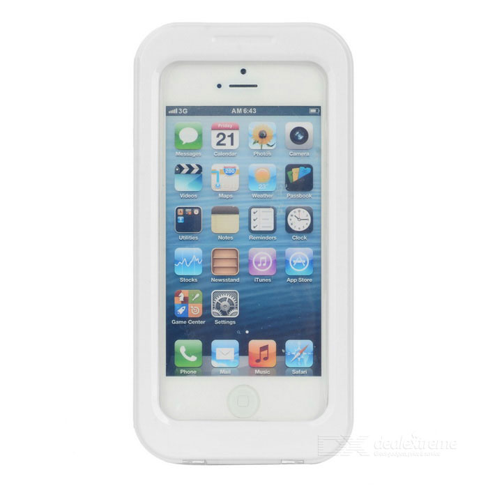 AW-101 Universal Waterproof Protective Case for Iphone 4 / 4S / 5 - White