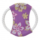 XW Pet Dog Teeth Cleaning Cotton Rope Frisbee Toy - White + Purple + Yellow + Red