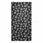 Multifunction Skull Pattern Outdoor Sports Bicycle Seamless Head Scarf - Black