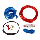 SANXUN A8 Car Amplifier Audio Installation Wires Cables Kit - Red + Blue + Black