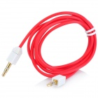Square Head 3.5mm Male to Male Audio Extension Cable - Red + White (107CM)