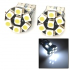 T10 2.6W 130lm 13-SMD 1210 LED White Light Car Steering Light - (DC 12V / 2 PCS)