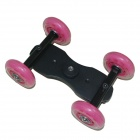 DeBao IV Video Slider Track Dolly Car for DSLR Camera Canon 5D 2 + More - Pink + Black