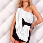 New Sophisticated Sexy Stitching Art Cocktail Club Dress - White + Black