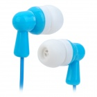 KEEKA KA-11 Kabel 3,5 mm Klinkenstecker In-Ear Ohrhörer - Blau + Weiß (120cm)