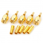 Brass + Golden Plated RF SMA-J-C-1.5 Coaxial Connector Adapter - Golden (5 PCS)
