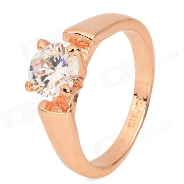 KCCHSTAR Stylish 18K Alloy CrystalFinger Ring - Golden