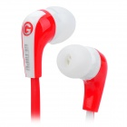 GENIPU BSP-81 Kabel 3,5 mm Klinkenstecker Stereo Super Bass In-Ear Ohrhörer - rot + weiß (120cm)