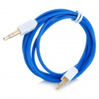 Square Head 3.5mm Male to Male Audio Extension Cable - Deep Blue + White (107CM)