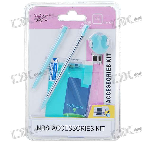 Screen Protectors and Styluses for NDSi/DSi (7-Piece Set)