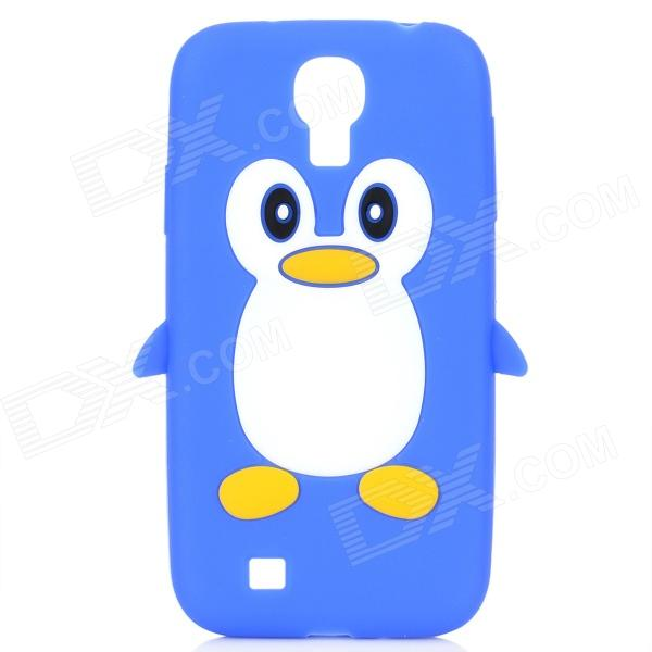 Protective Penguin Style Silicone Back Case for Samsung Galaxy S4 i9500 - Blue + White cool basketball skin pattern silicone protective back case for samsung galaxy s4 i9500 black red