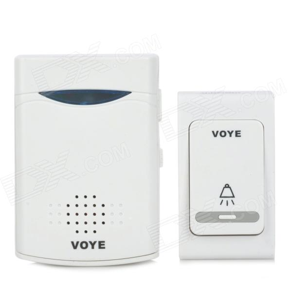 Wireless Doorbell System w/ Receiver + Transmitter - White (2 x AA + 1 x 23A)Doorbells<br>ModelV006BColorWhiteQuantity1PowerForm  ColorWhiteMaterialPlasticBrandNQuantity1PowerVoice Decibels60~70dBOtherWirelessPower AdaptornoPower SupplyAAPower AdapterWithout Power AdapterTransmission MethodWirelessPacking List<br>