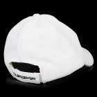 Fashion Outdoor 20% Polyester + 80% Cotton Baseball / Golf Cap / Hat for Men - White