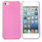Ultrathin Protective Frosted PC Back Case w/ SIM Pop-out Hole for Iphone 5 - Translucent Deep Pink