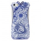Cheongsam Style Protective Electroplating Plastic Case for iPhone 5 - Blue