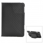 Diamond Pattern Stylish PU Stand Case for Ipad MINI - Black