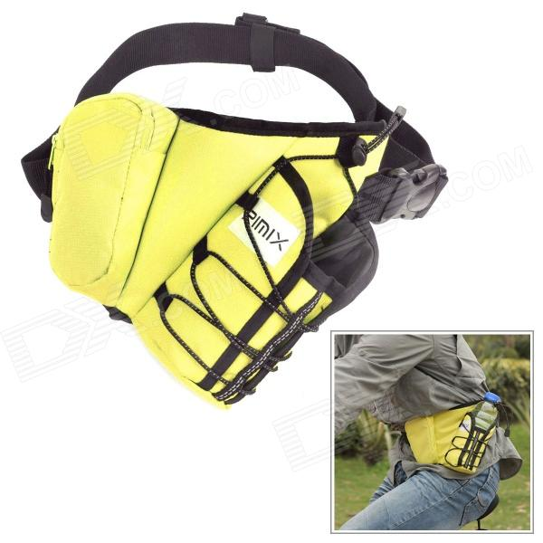 RIMIX R-Y Outdoor Sports Waterproof Nylon Reflective Strip Waist Bag - Yellow