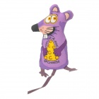 Cheese Mouse Style Catnip Pet Cat Toy - Purple + Yellow + Black