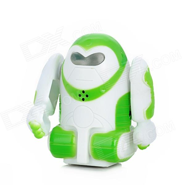 9102-3 2-CH Mini Intelligent Sound Activated Robot w/ Remote Controller - White + Green + Black