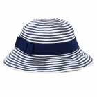 UV Protection Beach Paper Braided Hat / Cap for Women - Blue + White