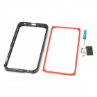Protective Aluminum Alloy Bumper Case for Iphone 5 - Black + Red