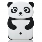 Cute Panda Style Protective Silicone Back Case for iPad Mini - Black + White