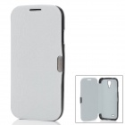 Protective PU Leather Cover PC Hard Back Case for Samsung Galaxy S4 i9500 - Light Grey + Black