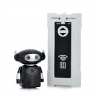 9102-3 Mini Infrared Voice Control Rechargeable Robot Toy - Black + Silver + White (6 x AAA)
