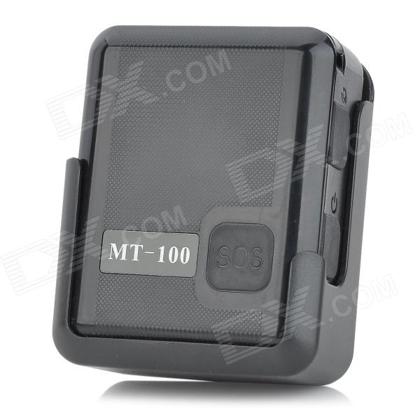 TWINMASK MT-100 Handheld GPS AGPS LBS Mini Tracker w/ TF /  Detectable Wristband - Black