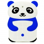 Cute Panda Style Protective Silicone Back Case for iPad Mini - Blue + White + Black