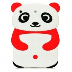 Cute Panda Style Protective Silicone Back Case for Ipad MINI - Red + White + Black