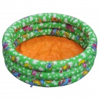QQ-R8233 Inflatable Baby Swimming Pool - Orange + Green