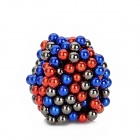 CT-318 5mm Rare Earth Magnet Beads DIY Puzzle Set - DBlue + Red + Grey (216 PCS)