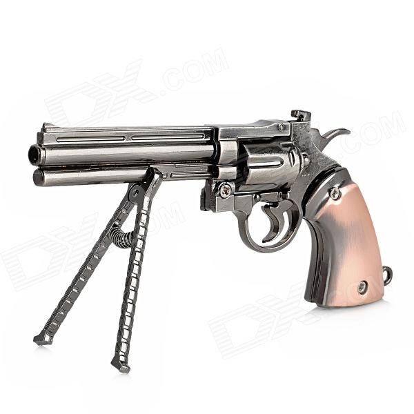 Z16 Zinc Alloy Simulation Revolver Gun Model Toy - Red Bronze + Bright Black