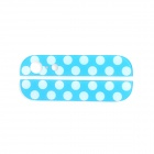 Replacement Dot Pattern Top + Bottom Glass Back Cover for iPhone 5 - Light Blue + White