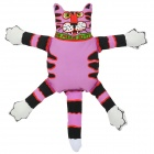 Cute Striae Cat Style Catnip Squeaky Pet Dog Toy - Purple + Black + White + Red