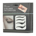 Cosmetic Double Eyelid Sticker / Eyeliner Sticker - Black + Silver (8 PCS)